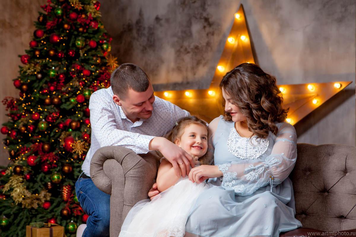 Семейная студийная фотография